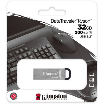 Kingston DataTraveler Kyson 32GB Pendrive [200 MB/s] USB3.2 Gen 1 (DTKN/32GB)