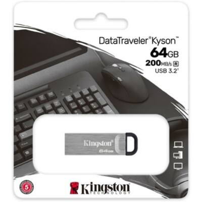 Kingston DataTraveler Kyson 64GB Pendrive [200 MB/s] USB3.2 Gen 1 (DTKN/64GB)