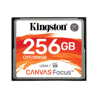 CFF/256GB Kingston Canvas Focus 256GB Compact Flash memóriakártya UDMA7 VPG-65 (150R/130W) CFF/128GB