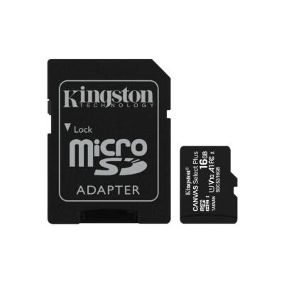 Kingston Canvas Select Plus 16GB microSD memóriakártya + Adapter