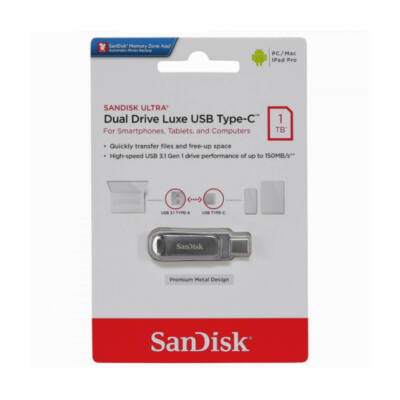 SANDISK ULTRA DUAL DRIVE LUXE PENDRIVE 1TB USB Type-C