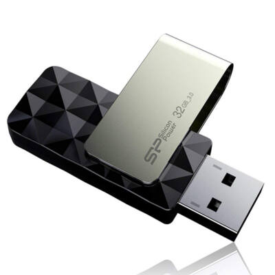 SP032GBUF3B30V1K Silicon Power 32GB Blaze Pendrive B30 [USB 3.0] Fekete
