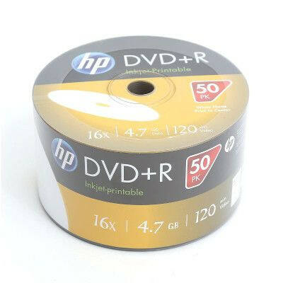 HP DVD+R 4.7GB 16x Printable White SP (50) - 14202