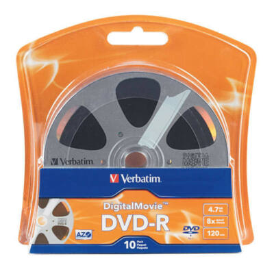 Verbatim DVD-R Digital Movie Edition 16X Lemez - Shrink (10) - 96856