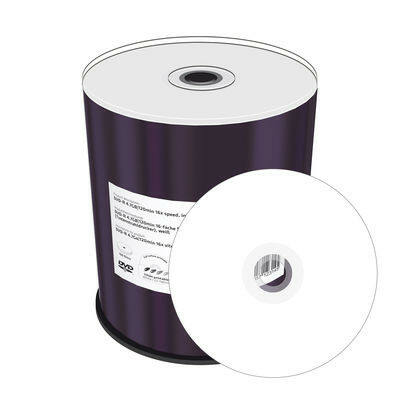 MediaRange DVD-R 16X Printable Shrink (100) - MR413