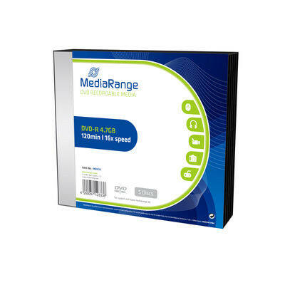 MediaRange DVD-R 16X slim tokban (5) - MR418
