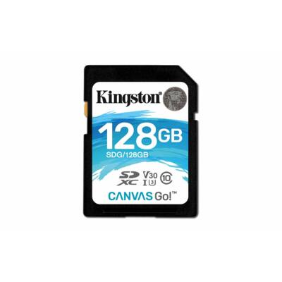 Kingston 128GB Canvas Go SDXC Memóriakártya (90/45 Mb/s) - SDG/128GB